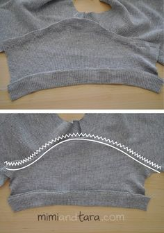 Sewing sweater sleeve