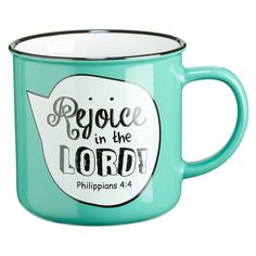 Fun, Inspirational and comfortable in your hand, the Campfire Style Scripture Bubble Ceramic Mugs are fashioned after the rustic tin campfire mug except ours are stoneware with a 'Word' bubble and ful