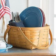 Longaberger Oval Utensil Basket / Protector - 6 Colors **NEW**