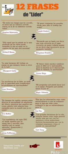 12 frases sobre Liderazgo #infografia