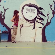 girl on the wall by ivana flores, via Behance
