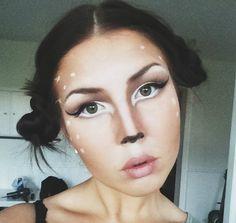 Bambi Deer Makeup Tutorial - Santacon