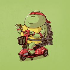 TMNT's pizza-only diet - Raphael