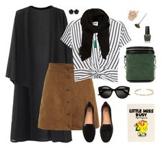 """""""Things Change in Fall"""" by kaytlinnoel on Polyvore featuring T By Alexander Wang, H&M, MANGO, Ila, Trish McEvoy, OPI, Olympia Le-Tan and Ileana Makri"""