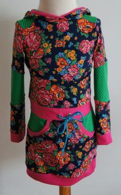Tricot jurk donkerblauw maat 104 | Tricot jurkjes | Bellefien