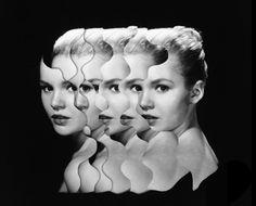 L'artiste collagiste allemand Matthieu Bourel sait magner le scalpel comme personne, et ça se voit dans ses collages ! Contrairement à ce que l'on serait tenté de penser, il s'agit-là de collages manuels, et non numériques, ce qui donne d'autant plus de mérite à cette série intitulée « Duplicity » où Matthieu Bourel a donc démultiplié des photos vintage pour leur donner cet effet kaléidoscope ou télescopique, que l'on retrouve également chez Jean-Paul Goude par exemple.
