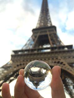 UpsideDown in Paris www.upsidedowntravels.com   Follow my marble around the world ;)