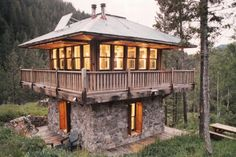 Cabin Style House Plan - 1 Beds 0 Baths 546 Sq/Ft Plan #547-1 Exterior - Front Elevation - Houseplans.com