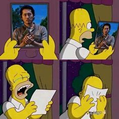 Page 6 of 160 - The Walking Dead Memes that live on after the characters and season ended. Memes are the REAL zombies of the show. Glenn Y Maggie, Twd Glenn, Glenn Rhee, Memes The Walking Dead, Fear The Walking Dead, George Harrison, Freddie Mercury, The Walk Dead, Twd Memes