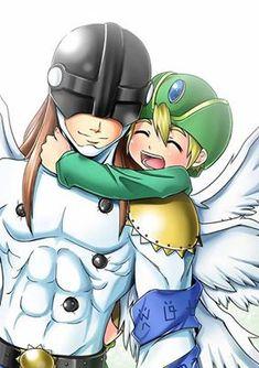 Takeru and Angemon <3