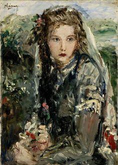 Woman with rose II, 1930, Náray Aurél. Hungarian (1883 - 1948)