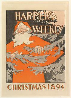 Edward Penfield (American, 1866–1925). Harper's Weekly Christmas, 1894. The Metropolitan Museum of Art, New York. Purchase, Leonard A. Lauder Gift, 1995 (1995.491.38)