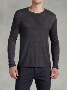 Reverse Print Crew Neck Sweater