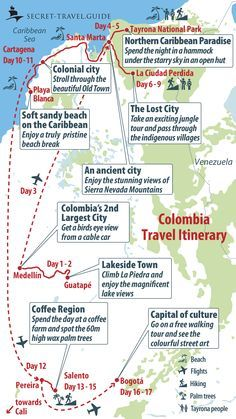 What to do in Colombia? 2 weeks in Colombia - Couple Travel The World Trip To Colombia, Colombia Travel, Columbia South America, South America Travel, Sedona Arizona, Las Vegas Hotels, Sierra Nevada, South America Destinations, Colombia Destinations