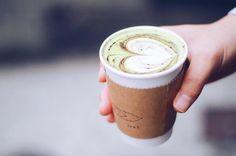 "- ''green tea latte with chocolate"" - #ivsi #book #bookcafe #hakozaki #fukuoka #ブックカフェ #箱崎 #coffee #latte #latteart #espresso #greentealatte #ラテアート"