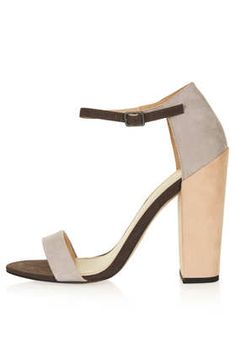 TOPSHOP Ratchet Block Strappy Heels