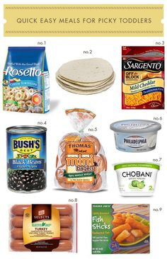 Quick Easy Meals For Picky Toddlers