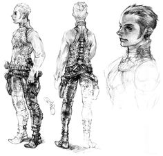 Week 12 - Final Fantasy XII - Concept Art Mon - Balthier Sketch