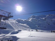 My favourit view... Blue sky, sunny weather & good slopes. Gerlos, winter 2013.