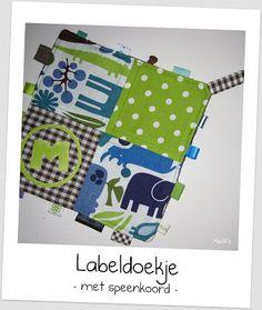 By MiekK: Project: labeldoekje met speenkoord