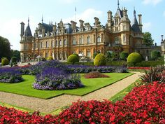 Waddesdon Manor: Created by Baron Ferdinand de Rothchild in the 1880's. one of the most impressive high-Victorian gardens in Britain.