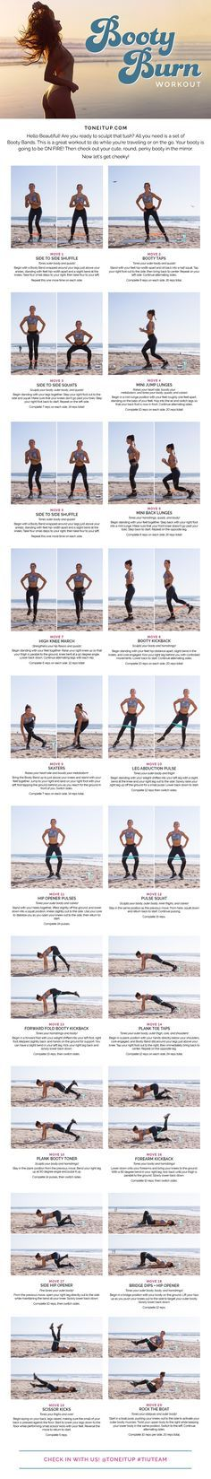 Are you ready to sculpt your cute tush?! This is a great workout to do while you're traveling or on the go. All you need is a set of Booty Bands!