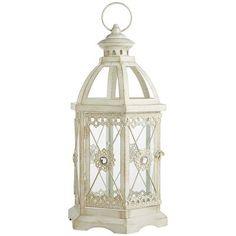 Jewel Hexagon Lantern - White Medium