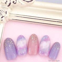 Acrylic Nail Designs, Acrylic Nails, Gel Nails, Manicure, Cute Nails, Pretty Nails, Pastel Nail Art, Japan Nail, Korean Nails