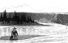sketch of miner panning for gold http://www.nps.gov/parkhistory/online_books/grte/foreword.htm