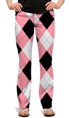 Ready Golf offers one of the largest selections of Loudmouth Golf Ladies Pants. Play loud, have fun Hello Kitty in Pink & Black womens golf pants. Womens Capri Pants, Pants For Women, Clothes For Women, Ladies Pants, Golf Fashion, Pink Fashion, Loudmouth Golf Pants, Cute Golf Outfit, Golf Attire