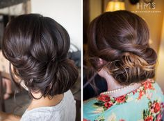 Love both of these bun updos for prom!