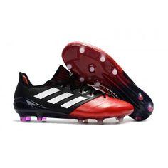 2017 Adidas ACE 17-1 Leather FG Chaussures de football Rouge Noir Blanc