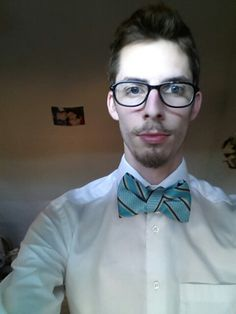 Bow tie made out of a normal tie.
