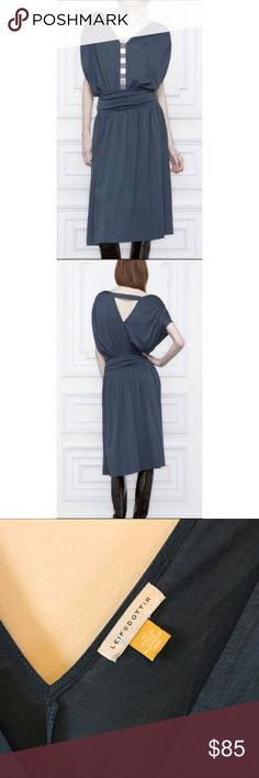 ANTHROPOLOGIE LEIFSDOTTIR Navy Roxelana Silk Spun ANTHROPOLOGIE LEIFSDOTTIR Navy Blue Roxelana Silk Spun Dress Size 8 See photos for visual description and measurements. All of my items are Pre-Owned. While they may not have been worn, they have been purchased, hung in a closet and been in someone else's possession and are second hand items. I do my best to find any damage, tear, wear, or defect in the item, but please buy with the understanding that this item was Pre-owned and there will be…