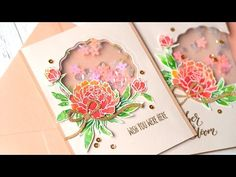 Tulle Shaker Cards - Jennifer McGuire Ink
