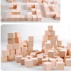 100PCS / LOT.2cm cubo, cubo di legno massiccio, blocco di legno, giocattoli educativi in anticipo, giocattoli Assemblage block.Kids, Freeshipping.Wholesale