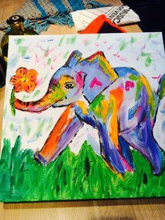Zelf nagemaakt olifantje