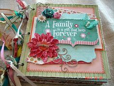 """Scrapbooking by Phyllis: Premade 8x8 Paper Bag Scrapbook Album """"A Family Fo..."""