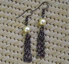 Pearl with Chain Tassel earrings from Forever Yours