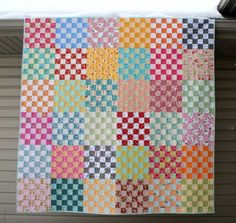 crazy mom quilts: 36 patch quilt.