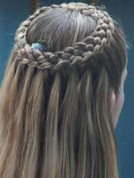 Five strand lace cascade