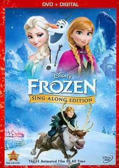 Frozen (Sing-Along Edition) by Chris Buck & Jennifer Lee Frozen Disney, Frozen 2013, Film Disney, Disney Toys, Frozen Sing, Film Frozen, Jennifer Lee, Idina Menzel, Kristen Bell