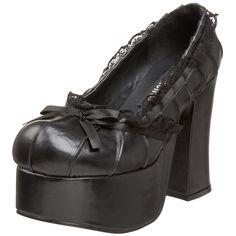 Demonia By Pleaser Women's Charade-26 Pump,Black Polyurethane,6 M US. Size: 6.