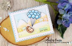Craft With Me- YouTube Live: Baby Boy card using Mama Elephant & Lawn Fawn