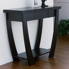 Redesign your entryway with this beautiful and modern console table by Furniture of America. Crafted from MDF, this table is available in a variety of finishes which will easily complement your existi Sofa End Tables, Entryway Tables, Console Tables, Wooden Console, Hall Tables, Coffee Tables, Furniture Layout, Living Room Furniture, Furniture Ideas