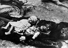 Hungary, Bodies of Jewish toddlers, victims of the Arrow Cross Party.