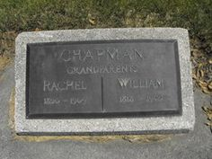 William Chapman/Rachel Shacklitt Watson Chapman