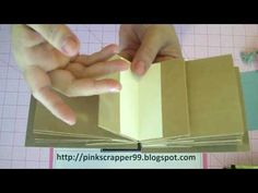 Paperbag Mini Album Tutorial Part 2 Final. The binding is cardstock fold that is hidden, flaps are mini pages and the spine is open