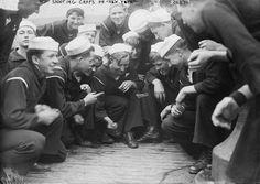 Sailors shooting craps, New York 1910