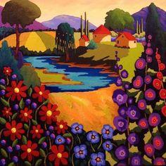 Reverie by Louise Marion - Louise Marion, artiste peintre, paysage urbain, Quebec, couleurs